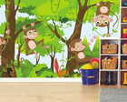 Adesivo Painel Infantil Zoo Macaco 12