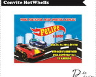 Convite hot wheels - Arte Digital