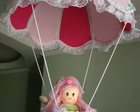 LUSTRE BALO INFANTIL ROSA E VEDE