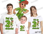 Kit Camiseta Aniversario Peter Pan com 3