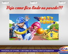 PAINEL FESTA 150X90 LAZY TOWN 1