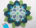 BROCHE MANDALA FLOR 1