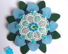 BROCHE MANDALA FLOR 3