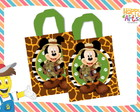 Sacola Eco Bag Mickey Safari