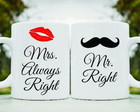Kit Canecas Mr. e Mrs. Always Right