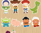 30 Apliques Toy Story