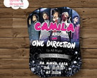 Convite Digital - One Direction 1D