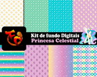 Kit Fundos digitais -Princesa Celestial2