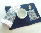 Kit Lanche Jeans Monkey Blue