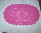 tapete de barbante oval pink