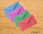 10 MINI ENVELOPES COLOR PLUS 6,5x4,7 cm