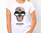T-shirt Caveira Chanel