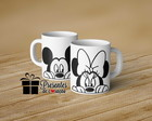 CANECA DE PORCELANA - MINNIE E MICKEY