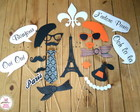 Placas Divertidas/Props Paris Laranja