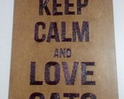 Placa Decorativa MDF - Keep Calm / Cats