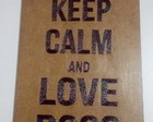Placa Decorativa MDF - Keep Calm / Dog