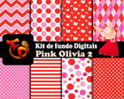 Kit de fundos Digitais - Pink Olivia 2