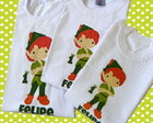 kit 3 camisetas peter pan sininho