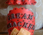 Pote para cream cracker de biscuit