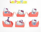 100 forminhas hello kitty p/ montar