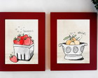 Mod1.kit 2 Quadros Fruits