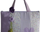 Bolsa em patchwork para notebook