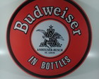 placa MDF redonda Budweiser retro 3mm