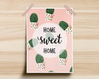 Poster Home Sweet Home Cactos