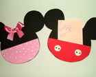 Porta recado- Minnie e Mickey