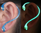 Brinco Ear Cuff Luminoso Cobra Serpente