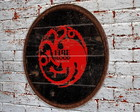 Placa Redonda Game Of Thrones Targaryen