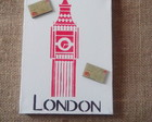Mini Quadro Tela I Love London