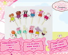 Kit 12 toppers Peppa Pig