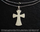 Cruz crucifixo cristo corrente inox-5715