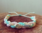 Pulseira candy colors de macrame