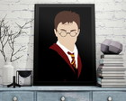 Poster Harry Potter A3 - c/ Moldura