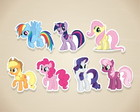 Apliques My Little Pony - 3 a 5 cm