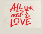 Adesivo - All You Need is Love