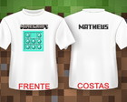 Camiseta MINECRAFT - PEITORAL DIAMANTE