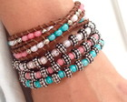 Mix de pulseiras Chan Luu Candy colors