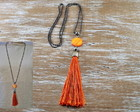 COLAR ORANGE/TASSEL 023/09FEB