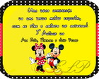 Arte Digital Marmitinha Mickey e Minnie