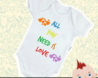 Body Infantil Bebê All You Need Is Love