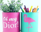 Mini latas Oh my dior and Flamingo