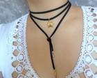 Choker Wrap Black Frog