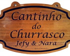 Placa Cantinho do Churrasco - modelo II