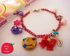 Pulseira Sailor Moon com charms do anime