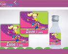 Rótulo Garrafinha 50ml Polly Pocket