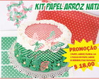 kit Papel arroz natalino