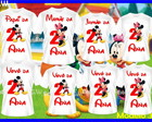 Kit Familia Mickey e Minnei c/8